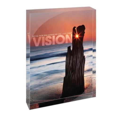 Vision Driftwood Infinity Edge Acrylic Desktop