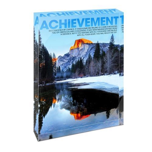 Achievement Mountain Infinity Edge Acrylic Desktop