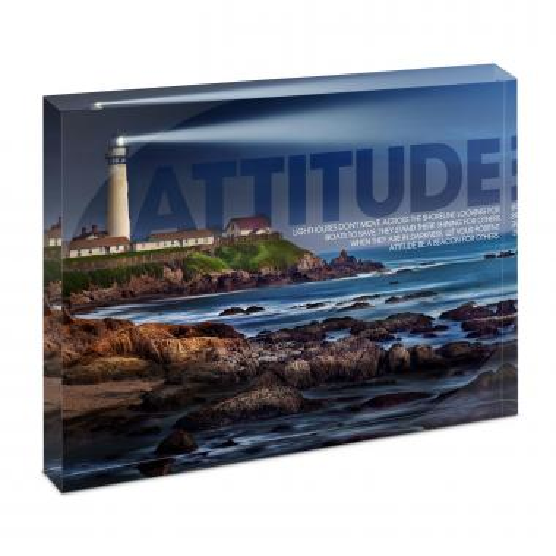 Attitude Lighthouse Infinity Edge Acrylic Desktop