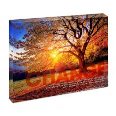 Modern Motivation - Change Tree Infinity Edge Acrylic Desktop