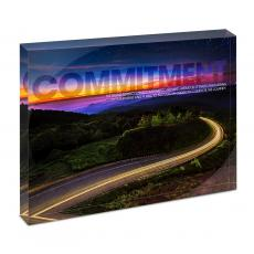 Modern Motivation - Commitment Highway Infinity Edge Acrylic Desktop