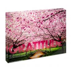 New Products - Gratitude Cherry Blossoms Infinity Edge Acrylic Desktop