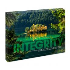 Modern Motivation - Integrity Island Infinity Edge Acrylic Desktop
