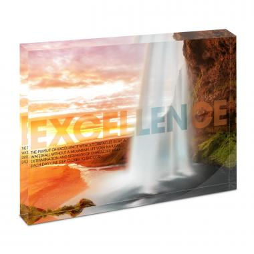 Excellence Waterfall Infinity Edge Acrylic Desktop