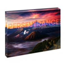 Modern Motivation - Perseverance Volcano Infinity Edge Acrylic Desktop