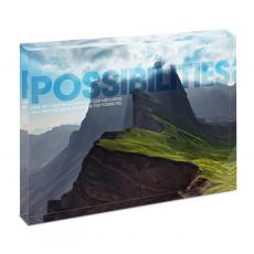 Modern Motivation - Possibilities Mountain Infinity Edge Acrylic Desktop