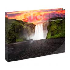 All Posters & Art - Success Waterfall Infinity Edge Acrylic Desktop