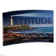 Acrylic Desktop Prints - Attitude Lighthouse Curved Desktop Acrylic
