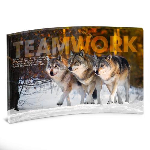 Teamwork Wolves Curved Desktop Acrylic