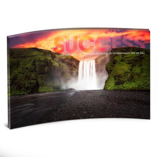 Success Waterfall Curved Desktop Acrylic