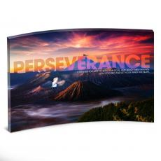 All Posters & Art - Perseverance Volcano Curved Desktop Acrylic
