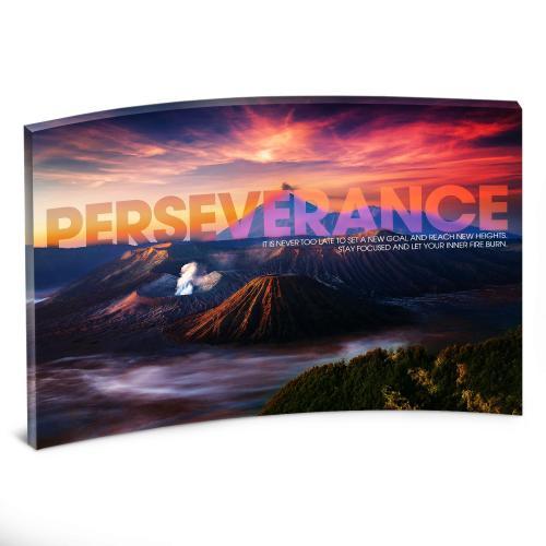 Perseverance Volcano Curved Desktop Acrylic