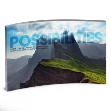 Acrylic Desktop Prints - Possibilities Mountain Curved Desktop Acrylic