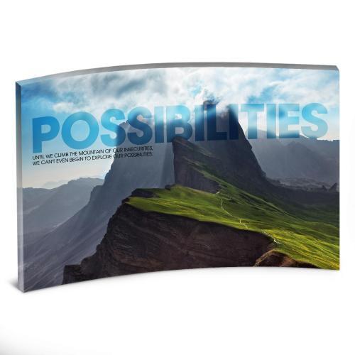 Possibilities Mountain Curved Desktop Acrylic