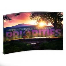 Desktop Prints - Priorities Bridge Curved Desktop Acrylic