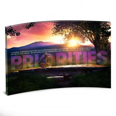 Priorities Bridge Curved Desktop Acrylic