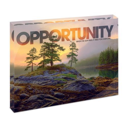 Opportunity Mountain Lake Infinity Edge Acrylic Desktop