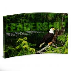 Leadership Posters - Leadership Eagle Tree Curved Desktop Acrylic