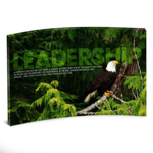 Leadership Eagle Tree Curved Desktop Acrylic