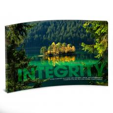 Entire Collection - Integrity Island Curved Desktop Acrylic