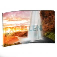 Desktop Prints - Excellence Waterfall Curved Desktop Acrylic