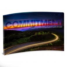 Acrylic Desktop Prints - Commitment Highway Curved Desktop Acrylic