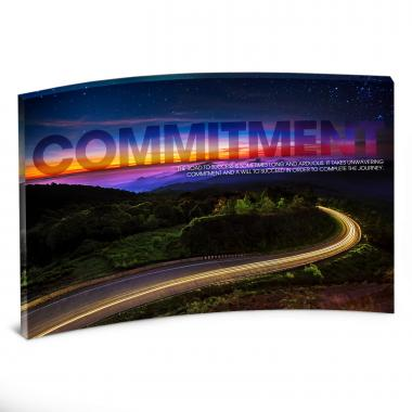 Commitment Highway Curved Desktop Acrylic