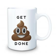 Ceramic Mugs - Get It Done Emoji 15oz Ceramic Mug