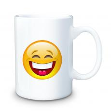 Ceramic Mugs - Smile Emoji 15oz Ceramic Mug