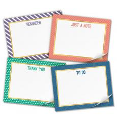 Note Cubes - Productivity Pad Sticky Notes Variety 4-Pack