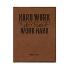 Padfolios - Hard Work Beats Talent Personalize Leather Padfolio