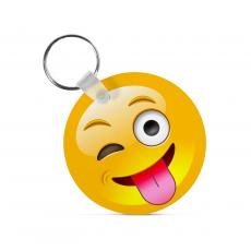 New Products - Winking Tongue Emoji Keychain