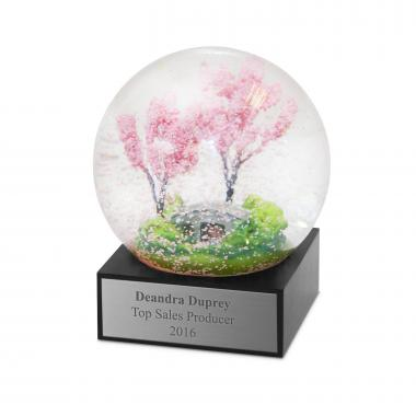 Cherry Blossoms Snow Globe