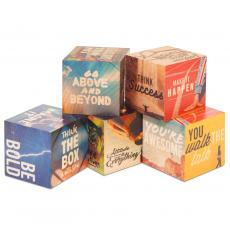 New Products - Motivational Wooden Building Blocks