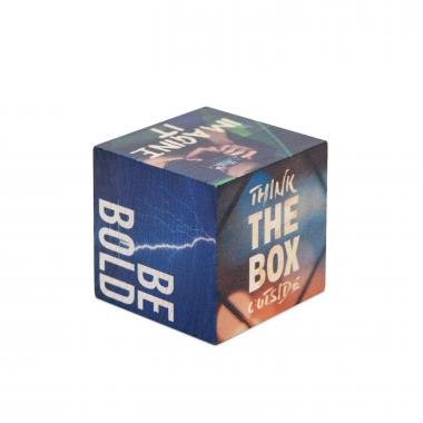 Think Outside the Box Motivational Wooden Building Block