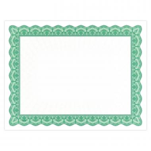 Green Bright Impressions Certificate Paper
