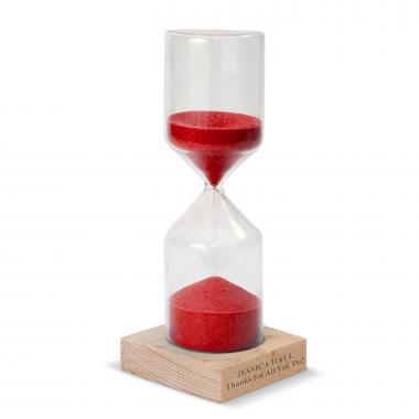 Red Personalized Sand Timer