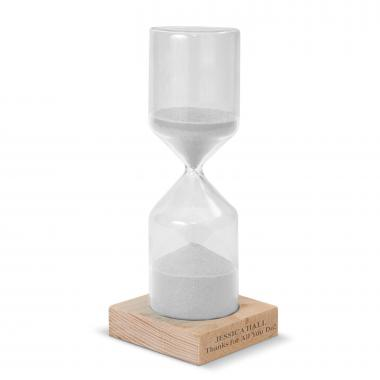 White Personalized Sand Timer