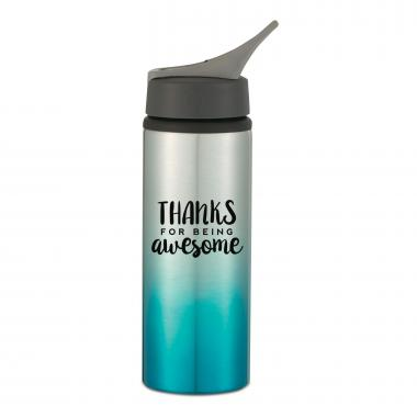 Thanks for Being Awesome 25oz Ombre Sports Bottle
