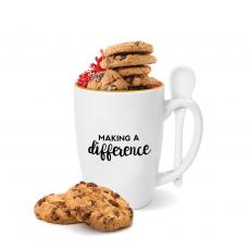 New Drinkware - Making a Difference Gold Rimmed Bistro Mug
