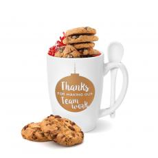 Holiday Themed Gifts - Thanks for Making Our Team Work Golden Bistro Mug