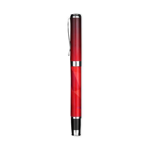 Red Geometric Pen