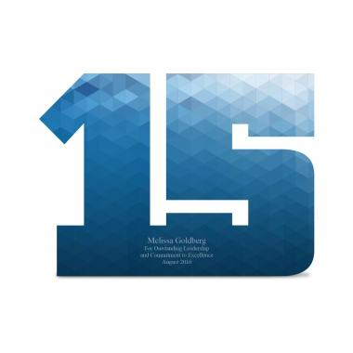 15 Years of Service Acrylic Award
