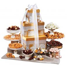 Holiday Themed Gifts - Holiday Extravaganza Gourmet Tower