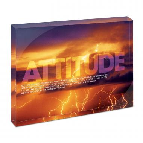 Attitude Lightning Infinity Edge Acrylic Desktop