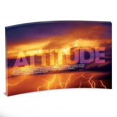 Desktop Prints - Attitude Lightning Curved Desktop Acrylic