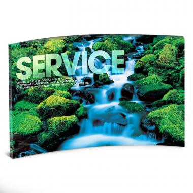 Service Waterfall Curved Desktop Acrylic