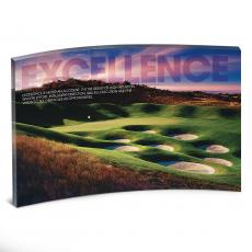 Acrylic Desktop Prints - Excellence Golf Curved Desktop Acrylic