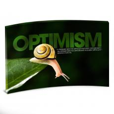 All Posters & Art - Optimism Snail Curved Desktop Acrylic