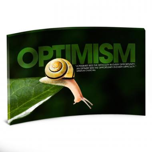 Optimism Snail Curved Desktop Acrylic